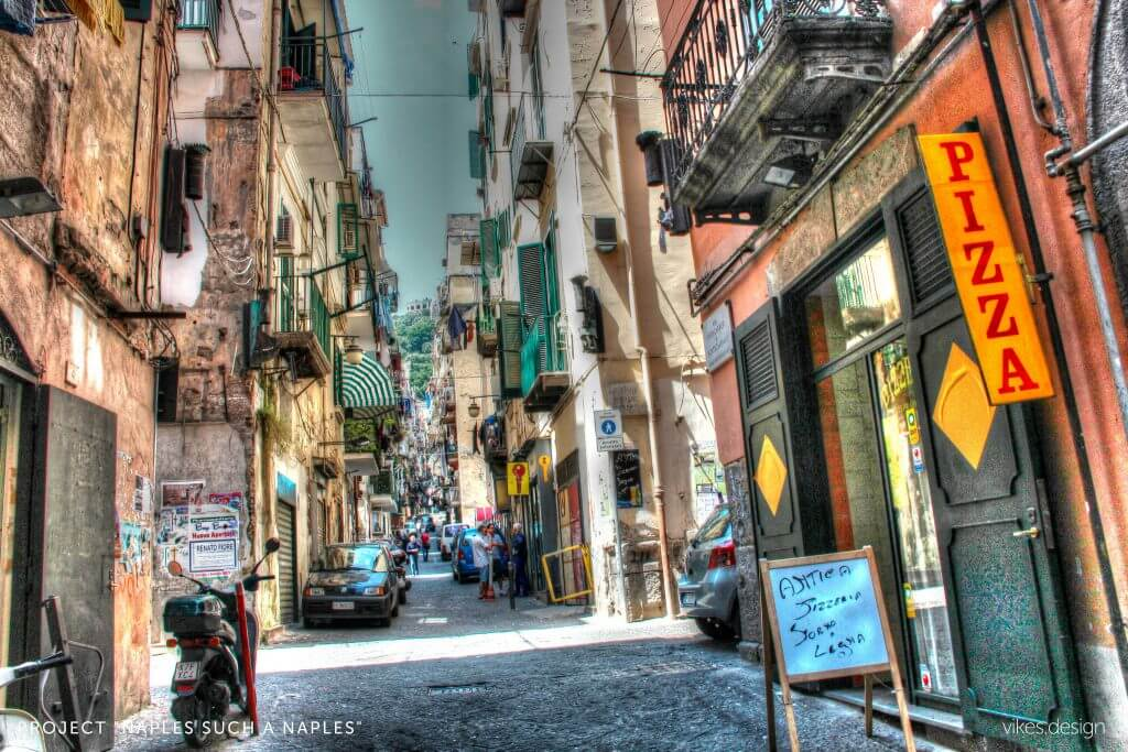 Naples street Italy photo project by vikes design
