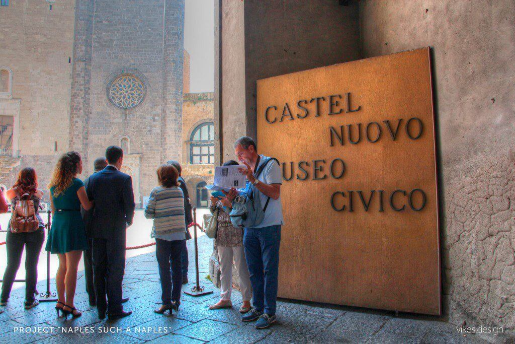 Anjou Castle, or Castel Nuovo, Naples Italy