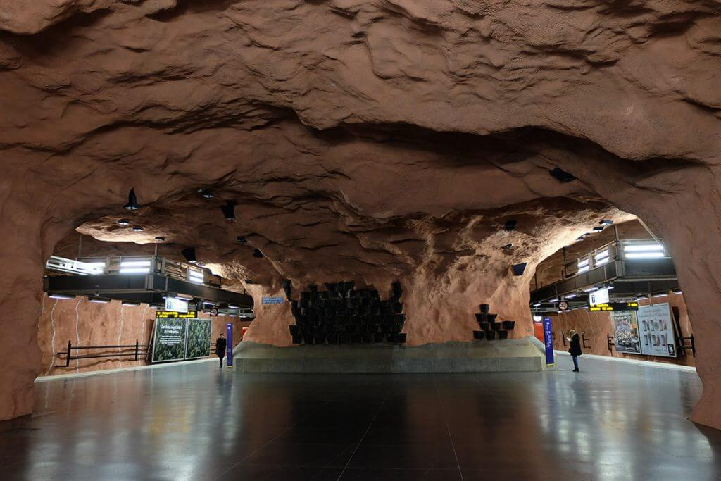 most beautiful metro stations in Stockholm Radhuset