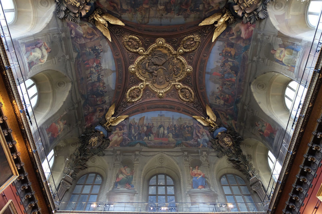 The ceilings of the Louvre, Paris