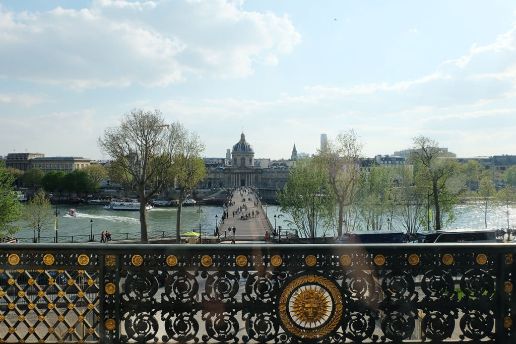 view of the Seine from the Louvre, Paris, France